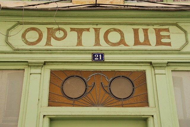 Devanture d'un opticien